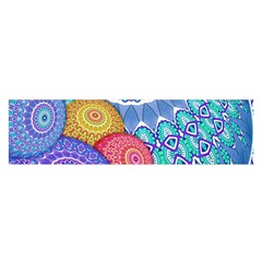 India Ornaments Mandala Balls Multicolored Satin Scarf (Oblong)