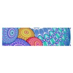 India Ornaments Mandala Balls Multicolored Satin Scarf (Oblong) Front