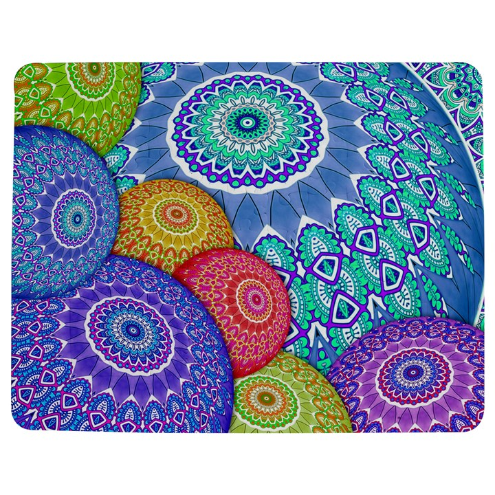 India Ornaments Mandala Balls Multicolored Jigsaw Puzzle Photo Stand (Rectangular)