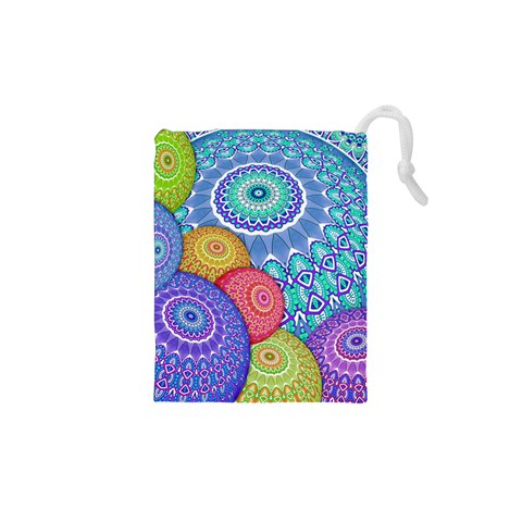 India Ornaments Mandala Balls Multicolored Drawstring Pouches (XS)