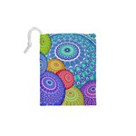 India Ornaments Mandala Balls Multicolored Drawstring Pouches (XS)  Back