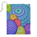 India Ornaments Mandala Balls Multicolored Drawstring Pouches (XXL) Back