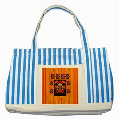 Clothing (20)6k,kk  O Striped Blue Tote Bag
