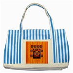 Clothing (20)6k,kk  O Striped Blue Tote Bag Front
