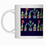 Cute Cactus Blossom White Mugs Left