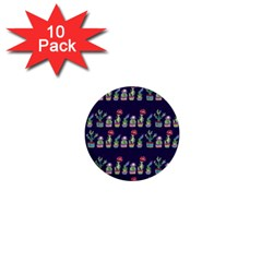 Cute Cactus Blossom 1  Mini Buttons (10 pack)