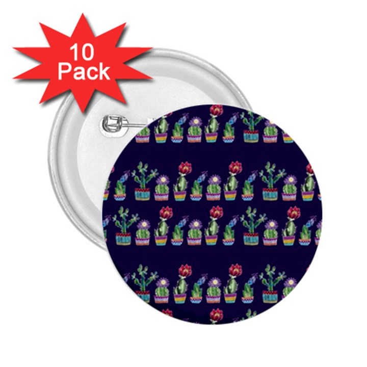 Cute Cactus Blossom 2.25  Buttons (10 pack)