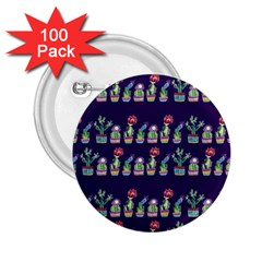 Cute Cactus Blossom 2.25  Buttons (100 pack)