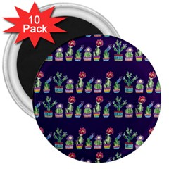 Cute Cactus Blossom 3  Magnets (10 pack)