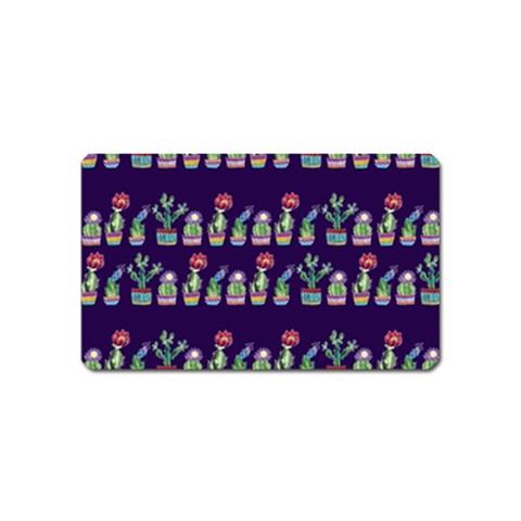 Cute Cactus Blossom Magnet (Name Card)