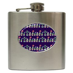 Cute Cactus Blossom Hip Flask (6 oz)