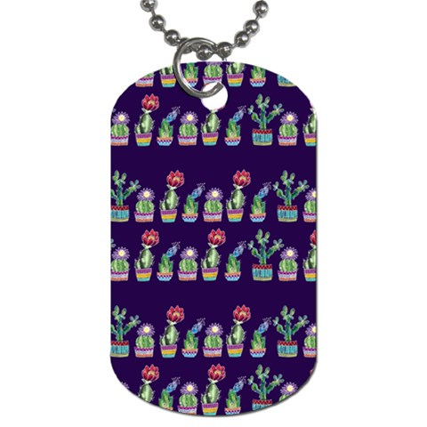 Cute Cactus Blossom Dog Tag (Two Sides)