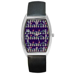 Cute Cactus Blossom Barrel Style Metal Watch