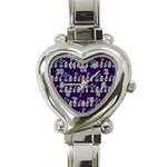 Cute Cactus Blossom Heart Italian Charm Watch Front