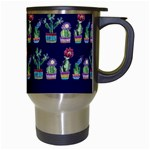 Cute Cactus Blossom Travel Mugs (White) Right