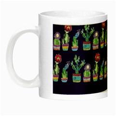 Cute Cactus Blossom Night Luminous Mugs