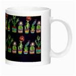 Cute Cactus Blossom Night Luminous Mugs Right