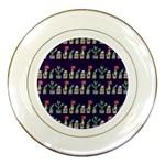 Cute Cactus Blossom Porcelain Plates Front