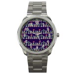 Cute Cactus Blossom Sport Metal Watch Front