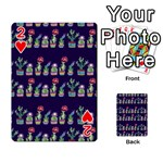 Cute Cactus Blossom Playing Cards 54 Designs  Front - Heart2