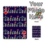 Cute Cactus Blossom Playing Cards 54 Designs  Front - Heart4