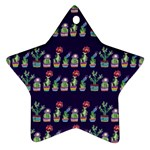Cute Cactus Blossom Star Ornament (Two Sides)  Front