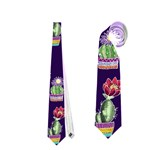 Cute Cactus Blossom Neckties (One Side)  Front