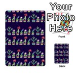 Cute Cactus Blossom Multi-purpose Cards (Rectangle)  Back 37