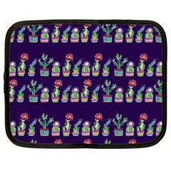 Cute Cactus Blossom Netbook Case (Large)