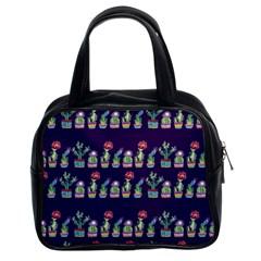 Cute Cactus Blossom Classic Handbags (2 Sides)