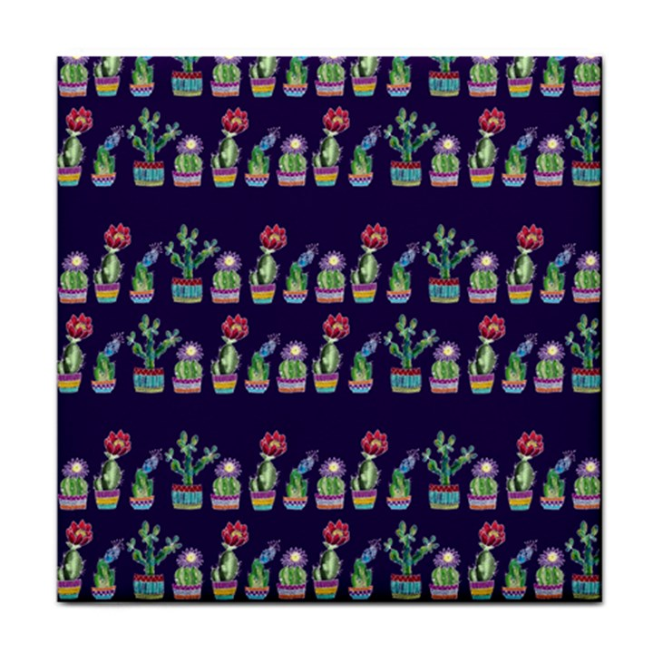 Cute Cactus Blossom Face Towel
