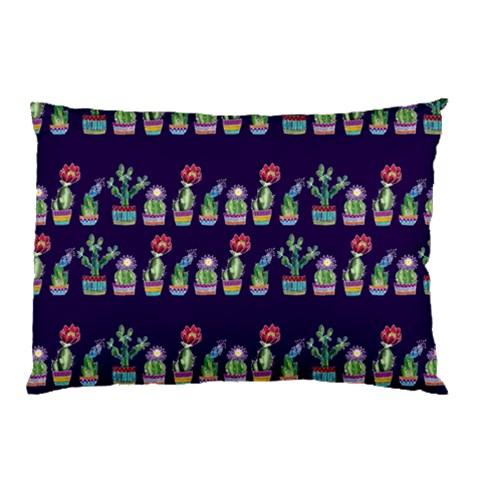 Cute Cactus Blossom Pillow Case