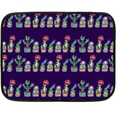 Cute Cactus Blossom Double Sided Fleece Blanket (Mini)