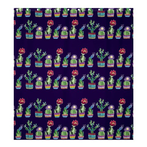 Cute Cactus Blossom Shower Curtain 66  x 72  (Large)
