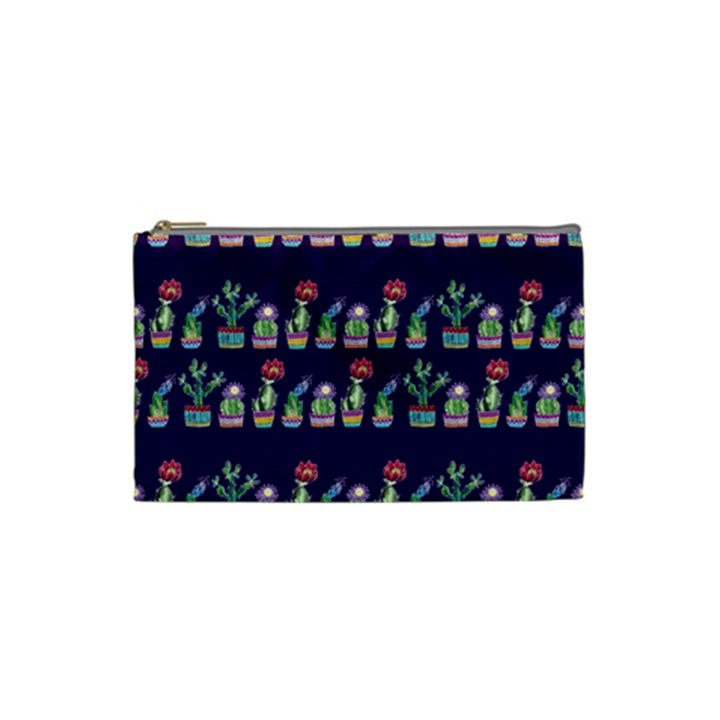 Cute Cactus Blossom Cosmetic Bag (Small)