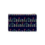 Cute Cactus Blossom Cosmetic Bag (Small)  Back