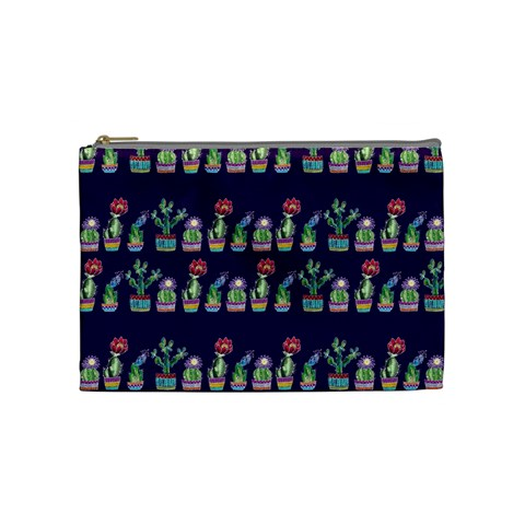 Cute Cactus Blossom Cosmetic Bag (Medium)