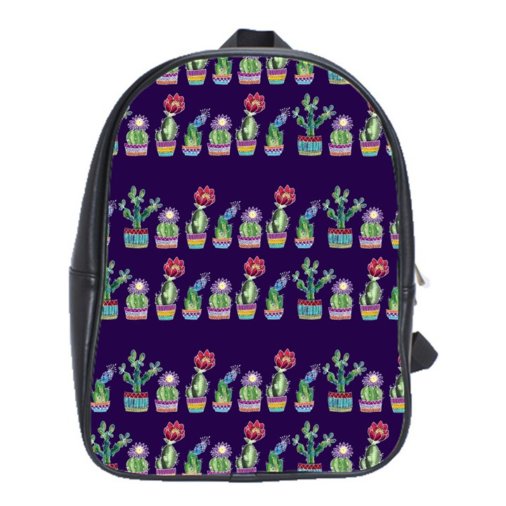 Cute Cactus Blossom School Bags(Large)
