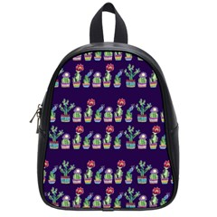 Cute Cactus Blossom School Bags (Small)