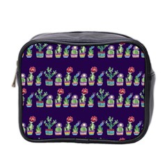 Cute Cactus Blossom Mini Toiletries Bag 2-Side