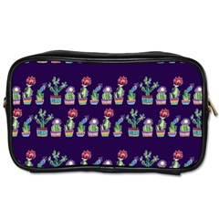 Cute Cactus Blossom Toiletries Bags