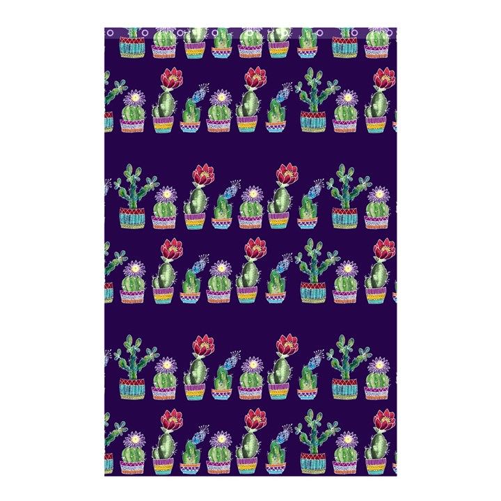 Cute Cactus Blossom Shower Curtain 48  x 72  (Small)