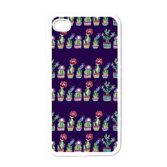 Cute Cactus Blossom Apple iPhone 4 Case (White)