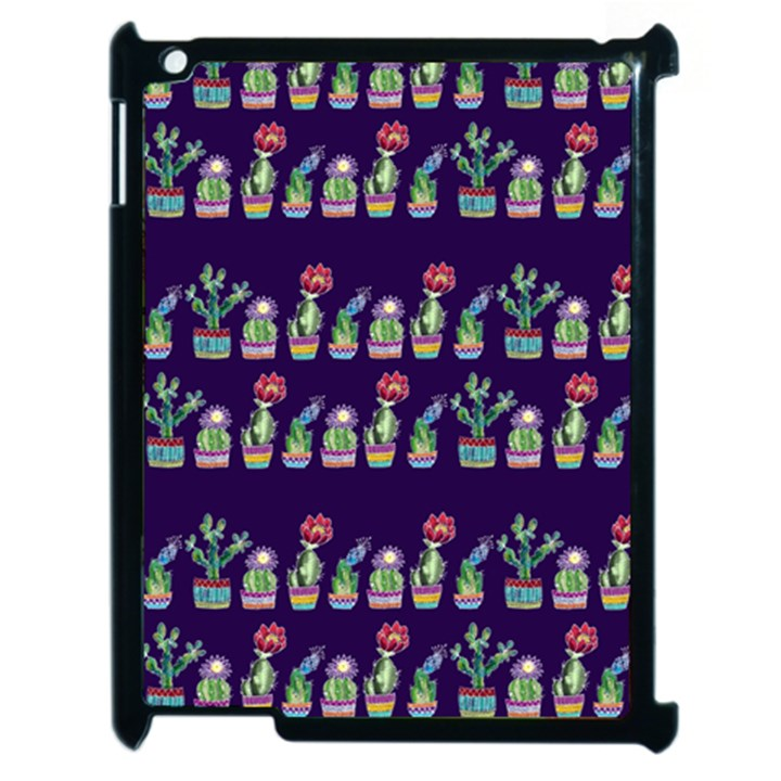 Cute Cactus Blossom Apple iPad 2 Case (Black)