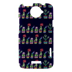 Cute Cactus Blossom HTC One X Hardshell Case