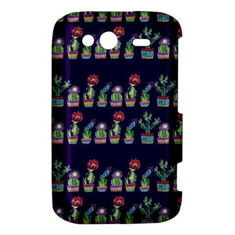 Cute Cactus Blossom HTC Wildfire S A510e Hardshell Case