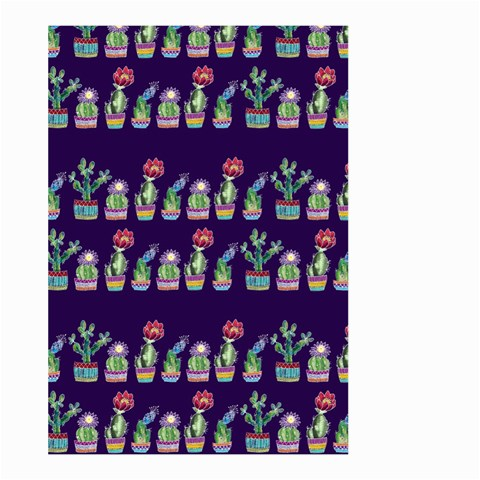 Cute Cactus Blossom Large Garden Flag (Two Sides)