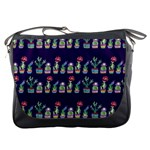 Cute Cactus Blossom Messenger Bags Front