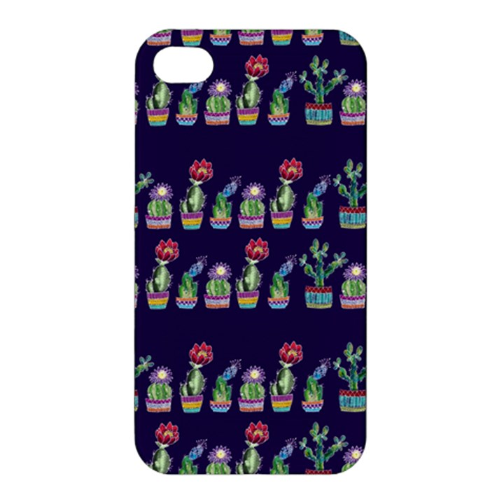 Cute Cactus Blossom Apple iPhone 4/4S Premium Hardshell Case