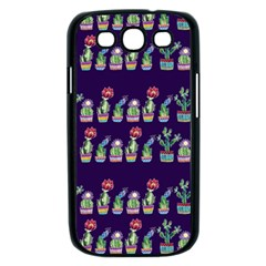 Cute Cactus Blossom Samsung Galaxy S III Case (Black)